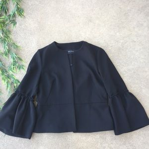 Zara Open Front Bell Sleeve Jacket